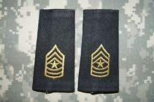 Authentic NEW US Army Shoulder Board Rank Sergeant Major Military Patch Regular