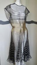 1930s Dress Gold Strips & French Net