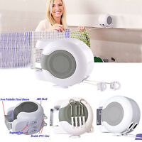 30M RETRACTABLE DOUBLE WASHING LINE WALL MOUNTED LAUNDRY AUTOMATIC LINE HANGER