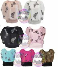 Waist Length Party Butterfly Tops & Shirts for Women