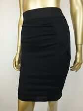 CUE SKIRT BLACK BODYCON STRETCH HIGH TUBE PENCIL WIGGLE SKIRT 6