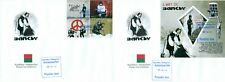 Banksy Street Art Graffiti Paintings Madagascar FDC first day covers set