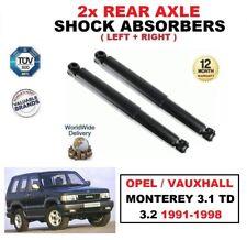 2 x Hinterachse Stoßdämpfer Satz für Opel Opel Monterey 3.1 TD 3.2 1991-1998