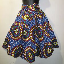 Skirt Fits M L XL 1X 2X Plus African Wax Print Ankara Red Blue Green NWT 16321 B