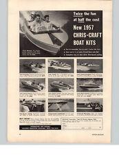 "1957 PAPER AD Chris Craft Boat Kits 12"" Meteor 14' Comet Motorboat Motor Boat"