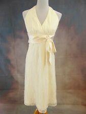 Jones New York Women's Ivory Lace Halter Tea Length Wedding/Occasion Dress Sz 16