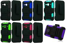 Holster + Hybrid Case Phone Cover for Alcatel Onetouch Pixi PULSAR LTE A460G