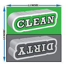 "Clean / Dirty Dishwasher Magnet - Strong 23 Pt Magnet. 2.5"" Square."