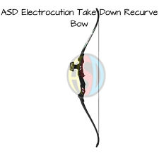 NEW - ASD Electrocution Archery Take Down Recurve Bow Set Blk & Blk Limbs 30Lb