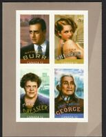 CANADIANS IN HOLLYWOOD = Block of 4 from front BK page Canada 2008 #2280iii MNH
