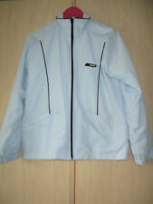 ladies ADIDAS LIGHT BLUE ZIP FRONT JACKET UK SIZE 12