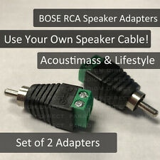 2 Bare Wire cable to RCA / Round Speaker Plugs for Bose Lifestyle / Acoustimass