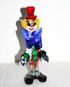 Murano Clown, 70er Jahre, stehend, mehrfarbig, Frack Rückseite mit Farbverlauf