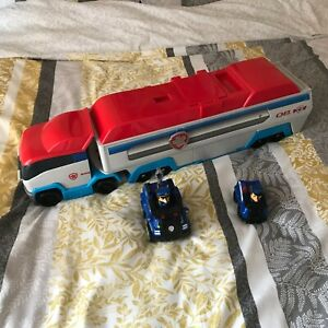 Paw Patrol Patroller Truck With Sounds  + Small Trucks & Figures