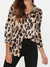 Missguided Tall Leopard Print Shirt Size 12