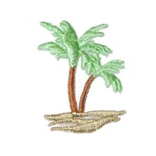 IRON ON PATCH APPLIQUE - PALM TREE