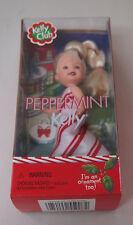 Nib Barbie Doll 2001 Kelly Club Christmas Holiday Peppermint