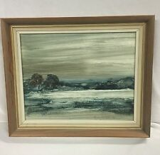 John Waterhouse Original Oil Painting on Board Seaside Landscape Scene