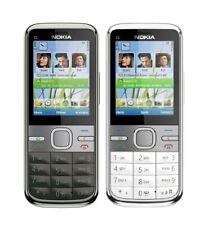 Nokia C Series C5-00 5.0MP Bluetooth FM Radio 2G Cell Phone White &Grey-Unlocked
