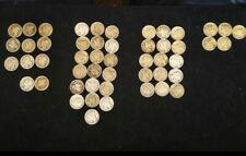 MERCURY DIMES Roll Of 50. Only 5 Are 1940+ Rest Are 1917-1939 AVERAGE CIRC NICE