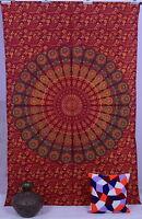 Indian Vintage Colcha Hippie Mandala Boho Decoración Pared Tapiz Psicodélico