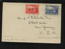 Australia 163,164 on cover to Us Ms0105