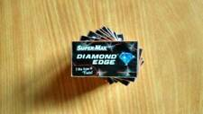 New 100 x super Max diamond edge double edge blades free shiping royal uk ***