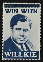 Win with Willkie Patriotic Presidential Campaign Stamp