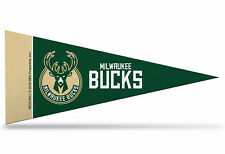 "New Milwaukee Bucks NBA Mini Pennant  9""x4"" Made in USA banner flag"