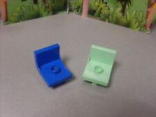 Lego Duplo House 2 sillas-verde y azul.
