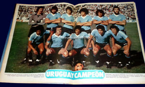URUGUAY CHAMPION GOLD CUP 1980 - El Grafico magazine #3198 w/poster Argentina