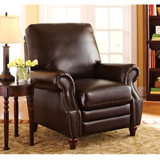Better Homes and Gardens Nailhead Leather Recliner, BROWN