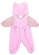Puppenkleid Babyoverall mit Mütze rosa Gr. 42-48 cm