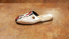New! Gucci x NY Yankees™ Slipper Loafers Silver Womens 9 US 39 Eur MSRP $980