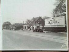 1910 PHOTO GAS STATION SEIBERLING TIRE GARAGE ICE CREAM BILLBOARD AD KANSAS CITY