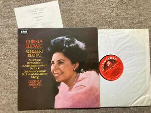 CHRISTA LUDWIG & GEOFFREY PARSONS Schubert Recital ORIG SAX 5272 UK  NM