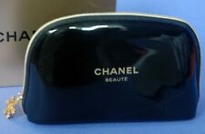 Authentic EMPTY Chanel Cosmetic Makeup Bag  Black GOLD Chanel Beaute