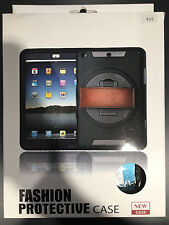 ipod Air 2 Case with leather grip strap and collapsible arm stand