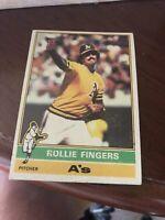 1976 Rollie Fingers HOF #405 Oakland A's Topps Baseball Card VG-EX