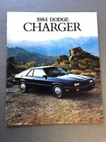 1984 Dodge Charger and Shelby Original Canada Car Sales Brochure Catalog