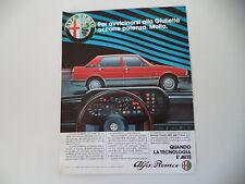 advertising Pubblicità 1983 ALFA ROMEO GIULIETTA