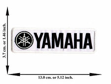White Yamaha Biker Rider Motorcycle Motor Racing Logo Applique Iron on Patch