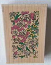 Personal Impressions (J0464-P) Rubber Stamp - Oriental Blossom Background - New