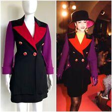 Christian Lacroix Fall 1991 size 36 jacket skirt wool black purple vintage