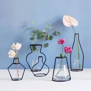 Iron Line Flowers Vase Metal Plant Holder Modern Solid Home Decors Nordic Styles
