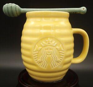 New Starbucks China 2021 Honey Mug / Honey Pot Cup with Honey Dripper Spoon