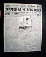 Best CHICAGO GANGLAND WARS Al 'Scarface' Capone Era - Prohibition 1930 Newspaper