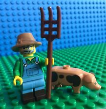Lego 71011 Series 15 FARMER Pig Pitchfork Hat Minifigures City Town New!!!