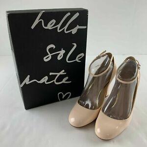NEW Banana Republic Tanie Women 8.5 M Strappy Block Heel Nude Blush Pump Shoe