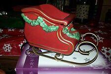 Santa's sleigh scentsy warmer NEW Discontinued HTF Christmas Holiday